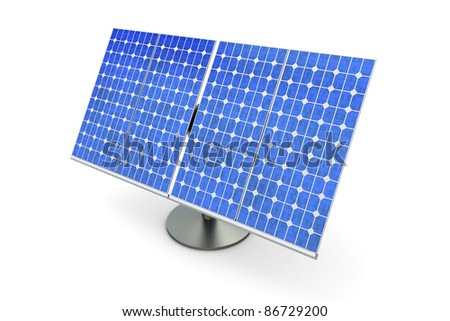 3D rendered Illustration. A single solar panel, isolated on white.