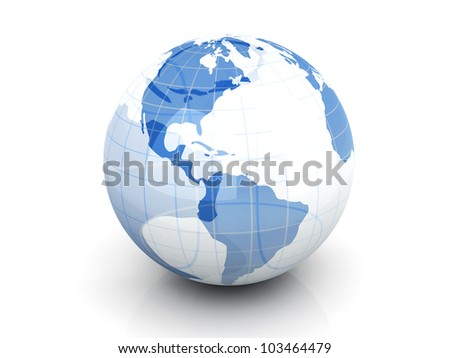 3D rendered Illustration. An Earth Globe.