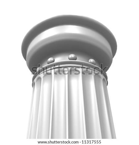 3d rendered illustration from a part of a white column