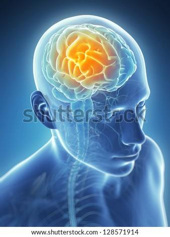 3d rendered illustration - headache