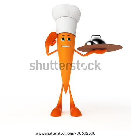 3d rendered illustration of a food character - carrot - stock photo