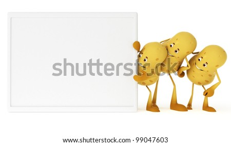 3d rendered illustration of a food character - potatos