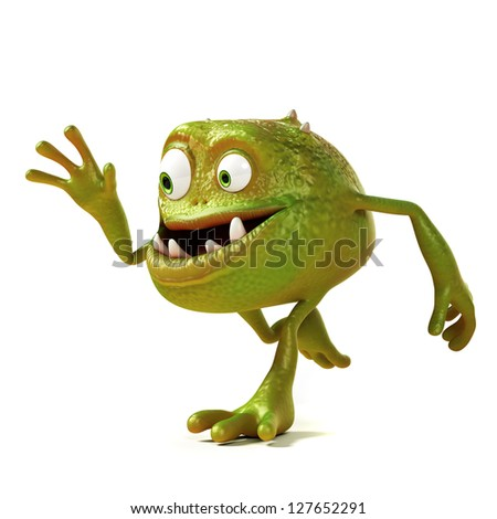 3d rendered illustration of a funny banana stock photo