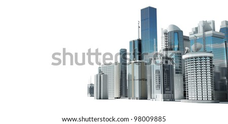 3d rendered illustration of a futuristic city