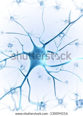 3d rendered illustration of a nerve cell