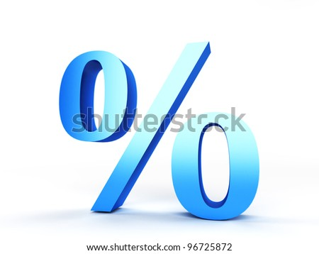 3d rendered illustration of a percentage sign