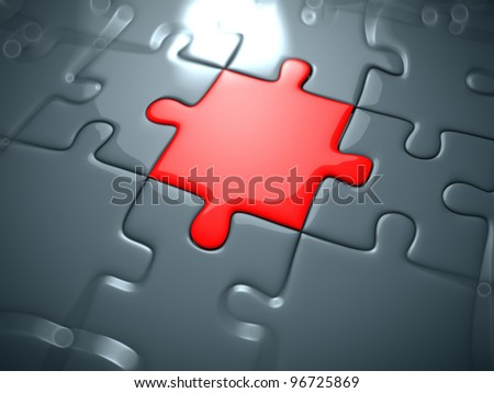 3d rendered illustration of a puzzle part