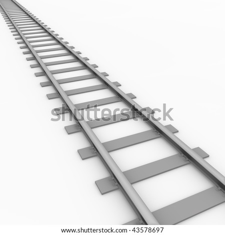 3D rendered illustration of a railroad track