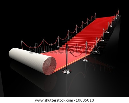3d rendered illustration of a red carpet