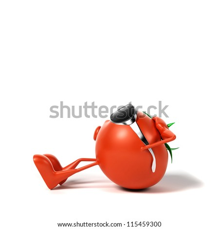 3d rendered illustration of a tomato character