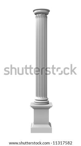 3d rendered illustration of a white column - stock photo