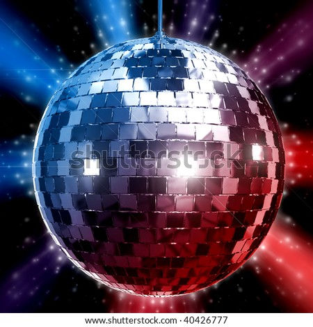 3D Rendered illustration of disco ball