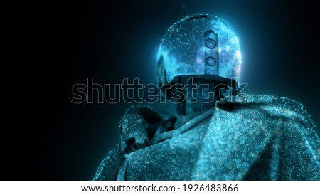 3d rendered illustration of dystopian humanoid android cyborg robot. High quality 3d illustration Stock fotó ©