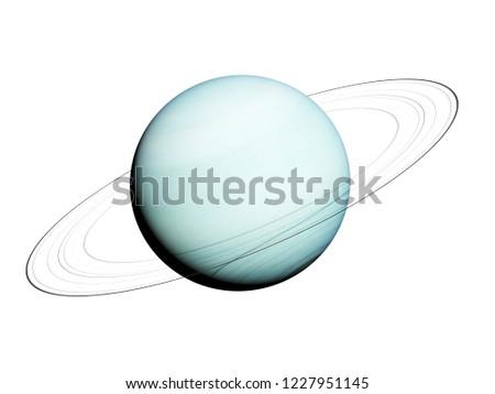 3d rendered illustration of the uranus