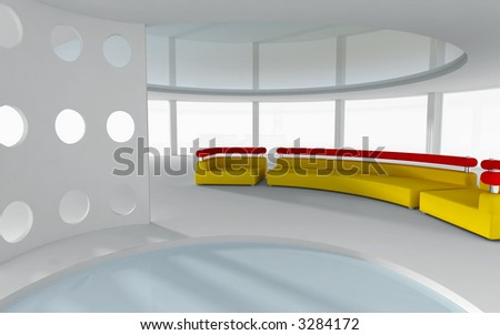 3d rendered interior