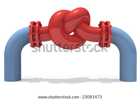 3D rendered knot from pipeline