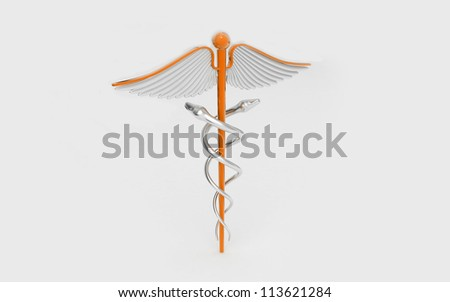 3d rendered medical logo isolated  on a white background - stock photo