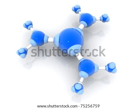 3d rendered molecule isolated on white background