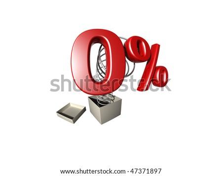 3d rendered percentage sign, series