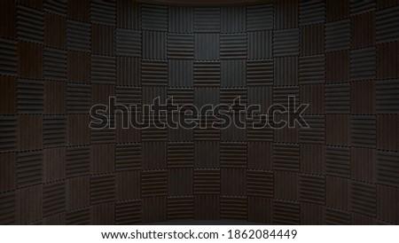 3d rendered recording studio backdrop  ストックフォト ©