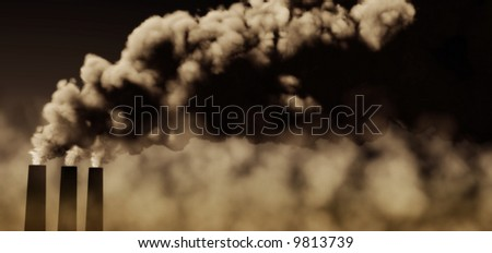 3d rendered scene against pollution