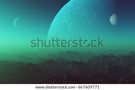 3d rendered space art  alien...