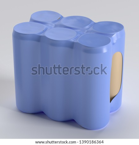 3D Rendered Thin Can Shrink Wrap illustration