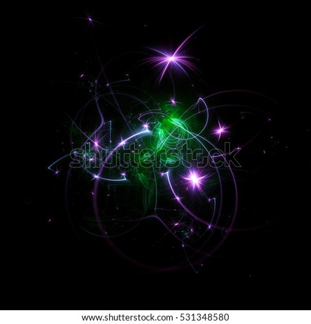 3d rendering abstract light background for happy new year ball holiday overlay illustration of glowing