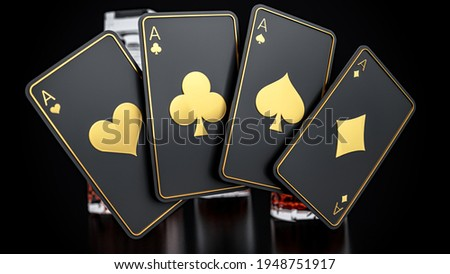 3d Rendering Aces Play Cards Сток-фото ©