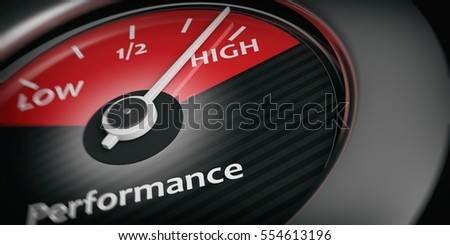 3d rendering car indicator high performance close up
