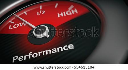 3d rendering car indicator low performance close up