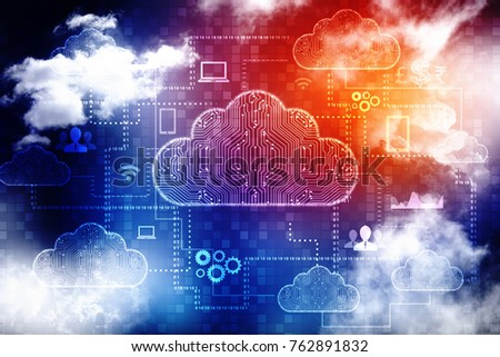 2d rendering Cloud computing, Cloud Computing Concept
