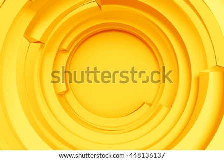 3d rendering concentric background with random rotated geometry shapes - Shutterstock ID 448136137