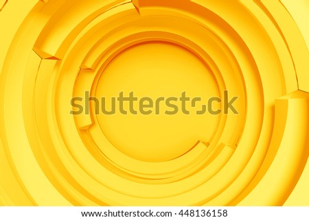 3d rendering concentric background with random rotated geometry shapes - Shutterstock ID 448136158