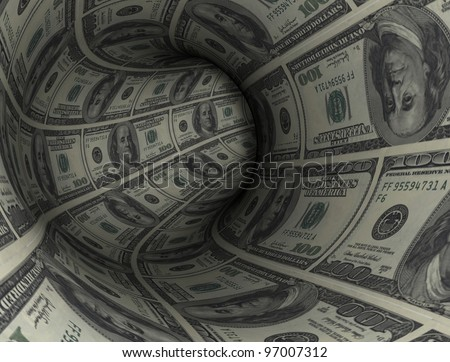 3d rendering, conceptual image, dollar tunnel.