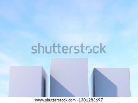 3d rendering cube-box background #1301283697