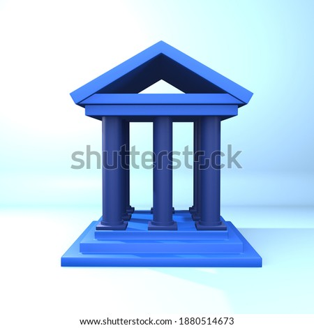 3d rendering curt illustration. 3D curt icon. Isolated 3d curt illustration on blue background Imagine de stoc ©