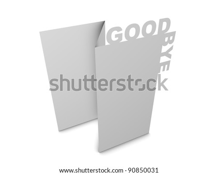 3d rendering, design element, Greeting card creative concept, isolated.