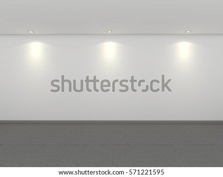 3D Rendering empty gallery #571221595