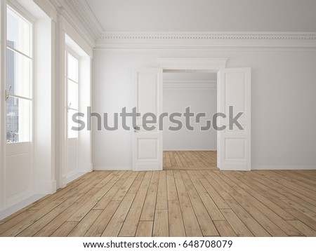 3d rendering. empty loft apartment with grunge look.