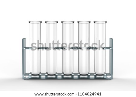 3d rendering empty test tubes on white background Stock photo ©