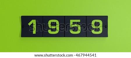 Shutterstock 3d rendering flip board year 1950s 1959
