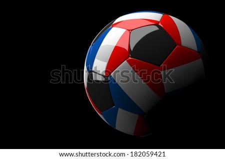 3d rendering France soccer ball on dark  background - stock photo