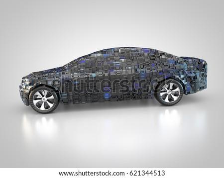 3D rendering: Future Car technology Zdjęcia stock ©