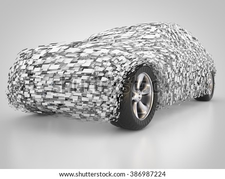 3D rendering: future transportation Zdjęcia stock ©