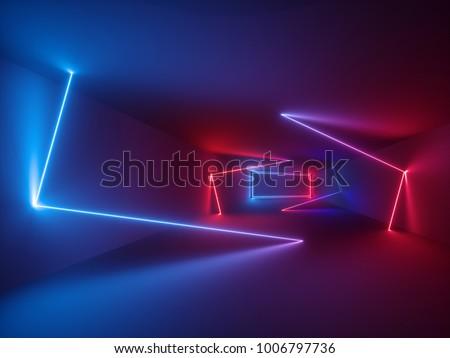 3d rendering  glowing lines ...
