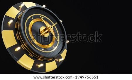 3d Rendering Gold Black Roulette Photo stock ©