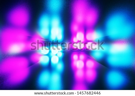 3D rendering illustration.  glowing lights Glowing stage room  abstract background