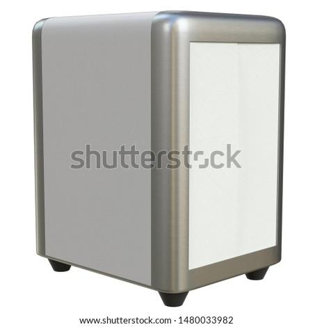 3D rendering illustration of a napkin dispenser