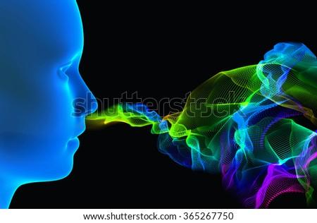 3d rendering illustration - smell concept Foto d'archivio ©